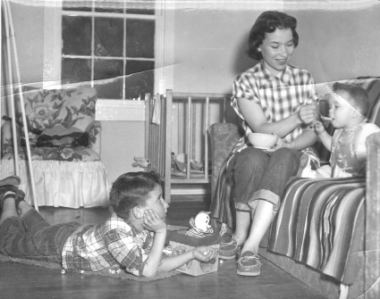 My Brother, Mother, and Me (circa 1953)